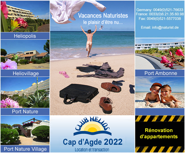 Village naturiste Cap d'Agde Location et transaction
